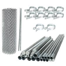 Diy Galvanized Steel Chain Link Fence Kit Aleko Gates