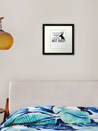 To Go To Sleep I Count Antlers Not Sheep Framed Art Print By Adametzb Redbubble