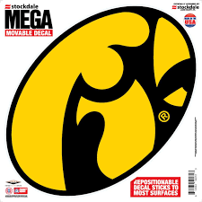 Iowa Hawkeyes Decal 12x12 Mega Sports Fan Shop