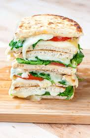 spinach and tomato grilled cheese pitas