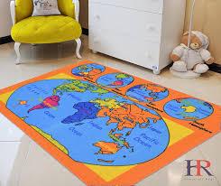 World Map Kids Educational Play Mat For School Classroom Kids Room Daycare Nursery Non Slip Gel Back Rug Carpet 3 By 5 Feet Walmart Com Walmart Com