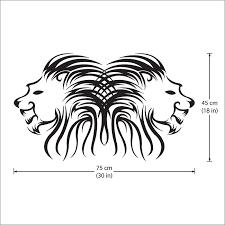 Lion Head Vinyl Wall Art Decal