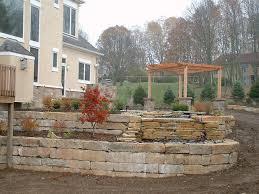 retaining walls seat walls 9 trees