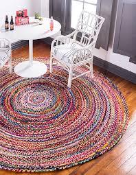 245cm braided chindi round rug