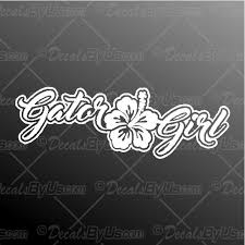Gator Girl Flower Decal Gator Girl Flower Car Sticker Fast Shipping
