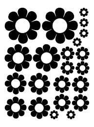 Black Daisy Wall Decals Stickers Nursery Decals Whimsidecals