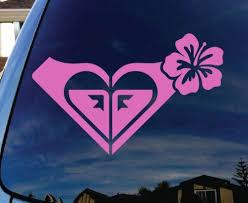 Amazon Com Roxy Hibiscus Pink Car Car Window Vinyl Decal Sticker 5 Wide Everything Else Pink Car Window Vinyl Vinyl Decals