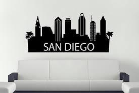 San Diego City Skyline Vinyl Sticker California City Skyline Etsy