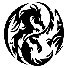 13 4 14 2cm Exquisite Dragon Yin Yang Design Decorative Vinyl Car Stickers Decal Car Styling Black Silver C9 1296 Wish