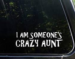 Amazon Com I Am Someone S Crazy Aunt 8 3 4 X 3 Vinyl Die Cut Decal Bumper Sticker For Windows Cars Trucks Laptops Etc3 Automotive