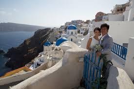 wedding in greece santorini aegean