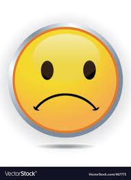 sad face royalty free vector image