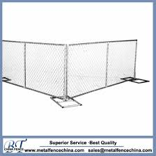 China Galvanized Construction Barrier Portable Chain Link Fence Panels China Galvanized Construction Barrier Galvanized Temporary Fence