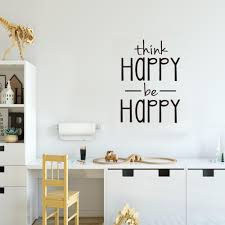 Think Happy Be Happy Wall Sticker English Proverbs Home Decor Living Room Bedroom Decoration Mural Wallpaper Creative Stickers Wall Decal Cheap Wall Decal Deals From Youlovehome 3 16 Dhgate Com