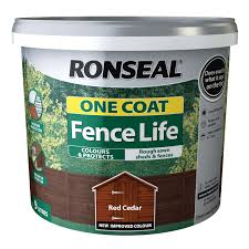 Ronseal One Coat Fence Life Tudor Harvest Gold 5l Homebase