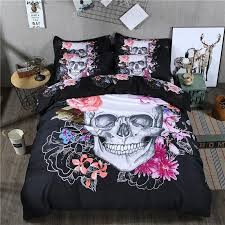 4 pieces corpse bride skull bed sheet