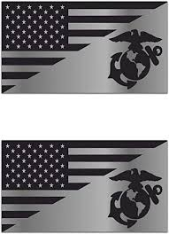 Amazon Com Usa Flag United States Sticker Marine Corps Usmc Decal Tactical Metallic Chrome For Truck Car Window Laptop Vinyl Bumper 4 In Arts Crafts Sewing