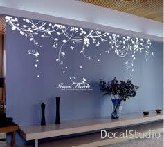 White Vinyl Sticker Wall Decal For Bedroom Living Room Flower Floral Decalstudio On Artfire