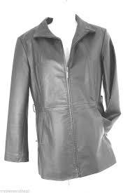 worthington black leather jacket zip
