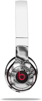 Amazon Com Wraptorskinz Skin Decal Wrap For Beats Solo 2 And Solo 3 Wireless Headphones Chrome Skull On White Beats Not Included Home Audio Theater