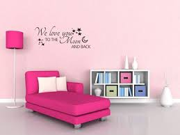 We Love You To The Moon And Back Wall Quote Wall Sticker Wall Decals Quotes V137 Walmart Com Walmart Com