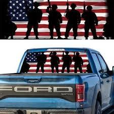 Rear Window Graphic Decal Tint American Flag Army Ebay