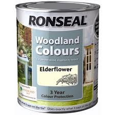 Ronseal Woodland Colour Paint 750ml Fence Shed Topline Bolands