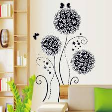 Black Hydrangea Dandelion Wall Stickers Home Wall Decor Art Decal Sticker Post Decals For Bedroom Walls Decals For Bedrooms From Samanthaadam1820 6 2 Dhgate Com