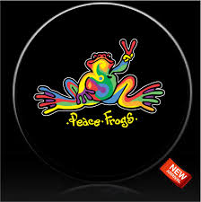 1 Tie Dye Peace Frog Tire Cover Peace Frogs C Custom Tire Covers