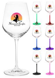 personalized crystal wine glasses
