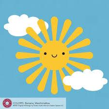 Happy Sun Decal Wall Sticker For Baby Nursery Kawaii Cute Kids Etsy