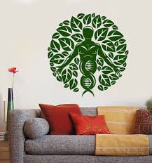 Vinyl Wall Decal Nature And Human Leaves Dna Science Stickers 2640ig Ebay