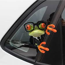 New Arrival 3d Glasses Frog Funny Car Covers Car Stickers Truck Window Decal Graphics Sticker Wish