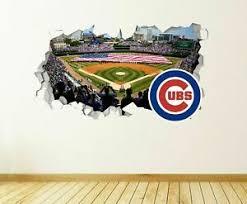 Chicago Cubs Stadium Mlb Custom Wall Decals 3d Wall Stickers Art Js1580 Ebay