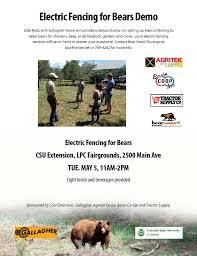 Electric Fencing Demo Bear Smart Durango