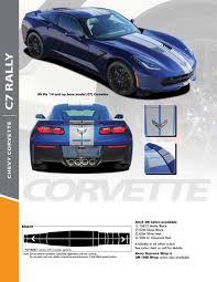 Chevy C7 Corvette Racing Stripes Vinyl Graphic Hood Rally Decal 2014 2018