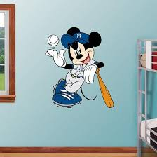 Mickey Mouse Yankees Wall Decal Allposters Com