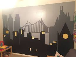 City Scape Wall Mural By Brandi Martin Cityscape Mural Wall Murals Painted Mural