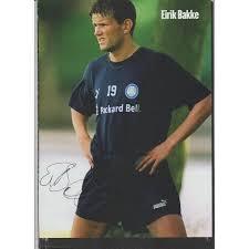 Signed picture of Eirik Bakke the Leeds United footballer