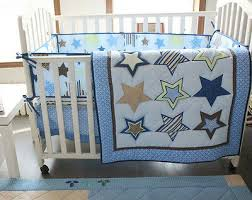 baby bedding set stars nursery quilt