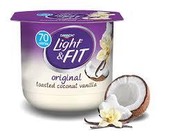 toasted coconut vanilla nonfat yogurt