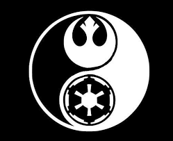 Amazon Com Vinyl Sticker Decal Star Wars Ying And Yang Rogue One Sticker Laptop Car Truck Window Bumper Notebook Vinyl Decal Sma5433 Home Kitchen