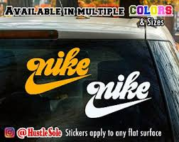 Nike Logo Driping Decal Sticker Car Window Laptop Or Wall Etsy