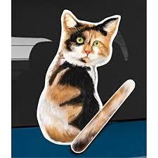 Wagging Wipers Calico Cat Car Rear Wiper Sticker Decal Walmart Com Walmart Com