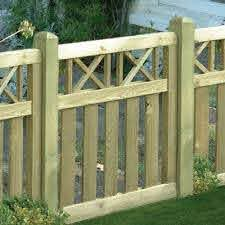 Elite Cross Top Fence Gate 900mm X 900mm Green Wooden Supplies