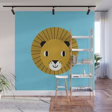 Lion Face Cute Decor For Kids Boys And Girls Nursery Kids Room Wall Mural By Charlottewinter Society6