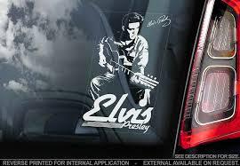 Elvis Presley Car Window Sticker The King Rock Roll Music Sign Decal V01 Ebay