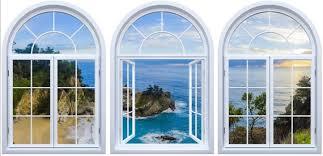 Fake Window View Self Adhesive Wallpaper Big Sur Mcway Etsy