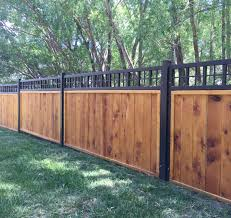 Steel Frame Fence Panels With Wood Privacy Fence Is A Unique And Beautiful Fence Privacy Fence Designs Fence Design Backyard Privacy