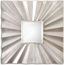 sunburst square wall mirror